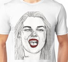 Kate with the Red Lips Unisex T-Shirt