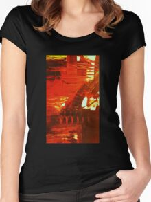crucible -sunset river tyne Women's Fitted Scoop T-Shirt