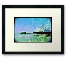 Blue Santa Monica Pier Framed Print