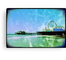 Blue Santa Monica Pier Canvas Print