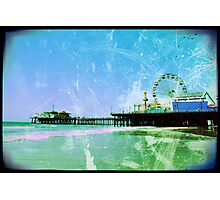 Blue Santa Monica Pier Photographic Print