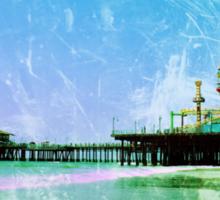 Blue Santa Monica Pier Sticker