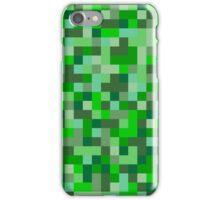Pixels - Green iPhone Case/Skin