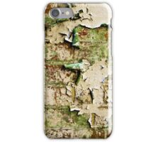 Textures - Green and white peeling paint iPhone Case/Skin