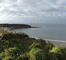 Nefyn Cloudy Cliff Panorama by charlottehubble