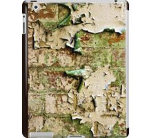 Textures - Green and white peeling paint iPad Case/Skin