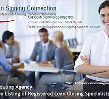 Certified Loan Signing Agent - www.americansigningconnection.com by americansigning