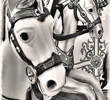 The Carousel in Mono by DavidWHughes