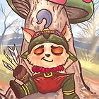 Teemo chilling like a boss by DivinusArt