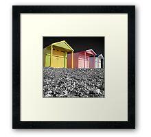 Beach Huts - Shoreham - West Sussex Framed Print