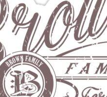 Brown Family - Chocolate Sticker