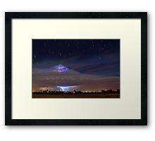 Stormy Startrails  Framed Print