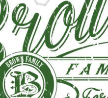 Brown Family - Irish Green Sticker