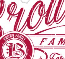 Brown Family - Red Wine Sticker