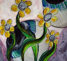 Goodness gracious great eye balls and flowers by Dani D.