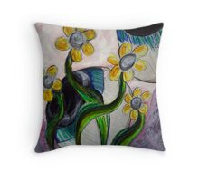 Goodness gracious great eye balls and flowers Throw Pillow