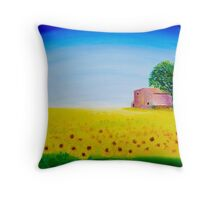 A FIELD IN DORDOGNE Throw Pillow