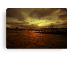 LOOKING BACK HAS WINTER GONE Canvas Print