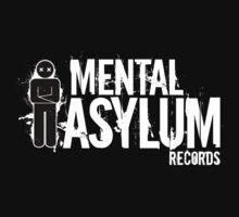 Mental Asylum White Logo by mentalasylumrec