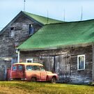 Old car, Older barn by Bruce Taylor