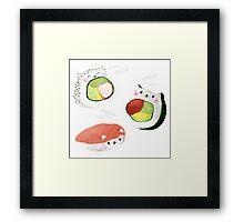 Cute Sushi Rolls Framed Print
