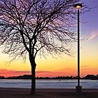 Sandusky Ohio - Shelby Street Boat Launch - Sunset by SRowe Art