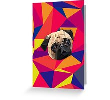 This pug loves you Greeting Card