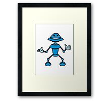 Robot funny cool toys funny comic Framed Print