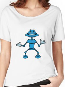 Robot funny cool toys funny comic Women's Relaxed Fit T-Shirt