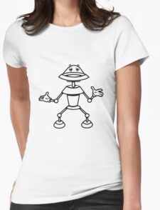 Robot funny cool toys funny comic Womens Fitted T-Shirt