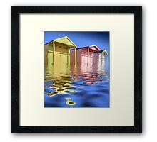 Beach Huts -  HDR Framed Print