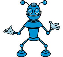 Robot funny cool toys funny antennas comic by Motiv-Lady
