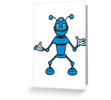 Robot funny cool toys funny antennas comic Greeting Card