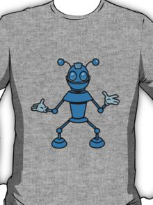 Robot funny cool toys funny antennas comic T-Shirt