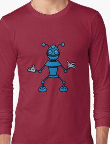 Robot funny cool toys funny antennas comic Long Sleeve T-Shirt