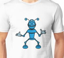 Robot funny cool toys funny antennas comic Unisex T-Shirt