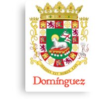 Domínguez Shield of Puerto Rico Canvas Print