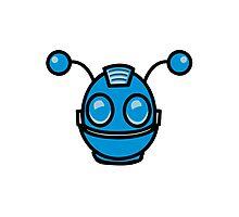 Robot funny cool toys fun antennas Photographic Print