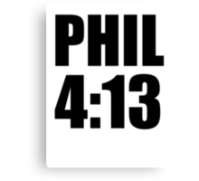 Phil 4:13 Canvas Print