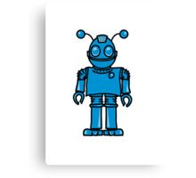 Funny cool robot toy fun Canvas Print