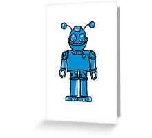 Funny cool robot toy fun Greeting Card