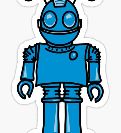 Funny cool robot toy fun Sticker