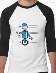 Funny cool fast funny goofy robot comic Men's Baseball ¾ T-Shirt