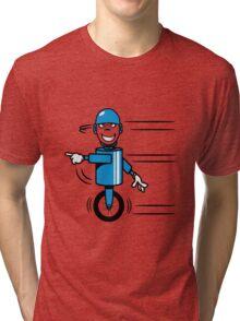 Funny cool fast funny goofy robot comic Tri-blend T-Shirt