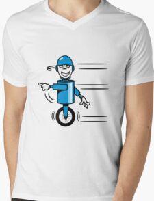 Funny cool fast funny goofy robot comic Mens V-Neck T-Shirt