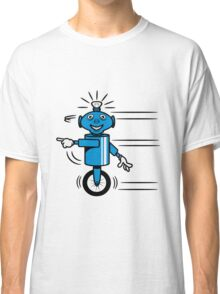 Robot funny cool fast funny dick comic Classic T-Shirt
