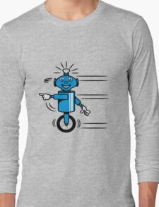 Robot funny cool fast funny dick comic Long Sleeve T-Shirt