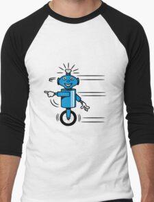 Robot funny cool fast funny dick comic Men's Baseball ¾ T-Shirt