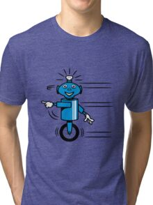 Robot funny cool fast funny dick comic Tri-blend T-Shirt