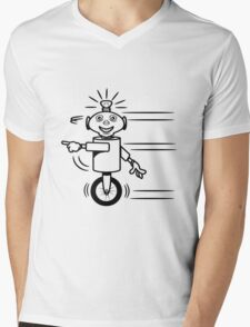 Robot funny cool fast funny dick comic Mens V-Neck T-Shirt